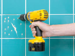 how to paint over bathroom wall tile how to fix broken wall tile and how to regrout how tos diy