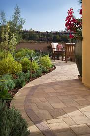 backyard pavers with grass home outdoor decoration