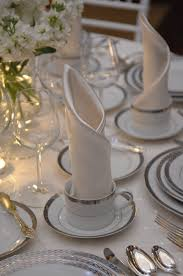 119 an elegant place setting for seated multi course dinner