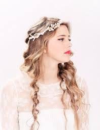 bridal headband flower crown headpiece wedding headband bridal
