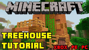 minecraft treehouse tutorial hd xbox ps3 pe pc quick and easy