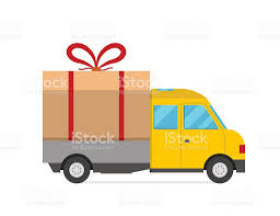 box car clipart delivery vector transport truck van christmas gift box bow ribbon