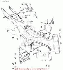 honda ss50e england 130515 frame body schematic partsfiche