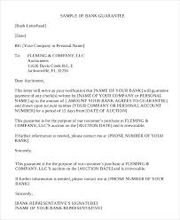 letter of guarantee 15 free sample example format free