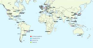 Global Map Of The World by Where Are We Seeing Leadership In The Climate Change File In Cities