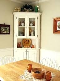 corner hutch dining table white for room furniture oak cabinet