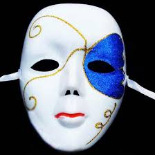 diy scary white face mask halloween masquerade ball party costume