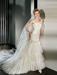 wedding dress batik stylish one shoulder wedding dresses modwedding