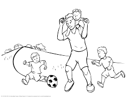 dad u0026 kids playing soccer soccer coloring pages pinterest dads