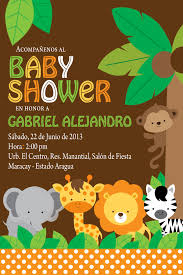Custom Made Invitation Cards Free Printable Baby Shower Invitations Stylish Jungle Animals