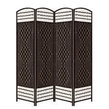 Room Dividers At Home Depot - ore international 5 56 ft espresso 4 panel room divider fw0676rl