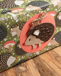 hedgehog wrapping paper woodland inspiration paper source paper source