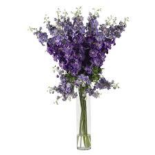 Wholesale Silk Flower Arrangements - amazon com nearly natural 1224 wh delphinium silk flower
