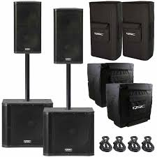 rca 1000w home theater system 2 qsc kw152 2 way multipurpose active speakers with 15
