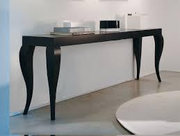 Italian Console Table Nella Vetrina Cabriole Modern Italian Designer Black Oak Wood Console
