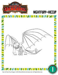 color night fury hiccup u2013 coloring pages u2013 dragons