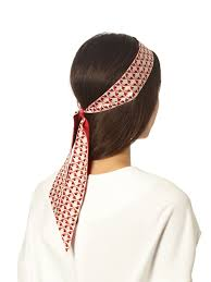 silk headband fendi mini bag bugs print silk headband in lyst