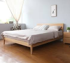 Buy Bed Frames Awesome Larvik King Scandinavian Fabric Bed Frame In Grey Buy Sale