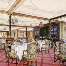 titanic first class dining room recounting of the final fateful meal eaten by first class
