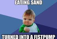 Baby Eating Sand Meme - unique eat me meme baby picture of me eating sand turned into a