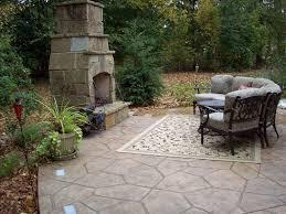 patio concrete mason fireplace jpg custom back yard stamping