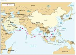 Southeastern Asia Map by Indian Strategic Studies Southeast Asia India China And Sea Power