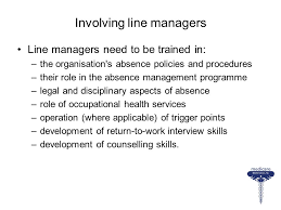 Counselling Skills For Managers Sickness Absence Management Ppt
