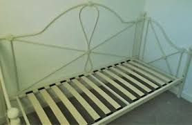 lyon day bed frame traditional 2ft6 small single metal in cream ebay