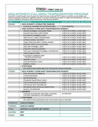 chicago manual sample paper high intensity full body program fitnessrx for women
