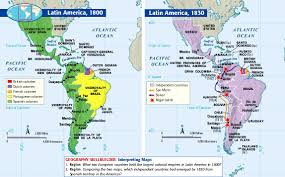Map Of Latin America by Latin American Revolutions Webquest Create Webquest
