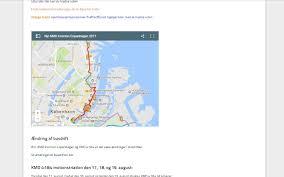 Copenhagen Map Coming Weekend U2013 Traffic Will Be Challenged In Copenhagen City