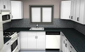 U Shaped Kitchen Designs Layouts Black Mahogany Cabinet With White Marble U Shaped Kitchen Design