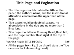 Writing Using APA Style Graduate Research Papers Based on Purdue Title Page and Pagination The title page should contain the title of the paper     FAMU Online