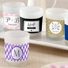 personalized candle favors personalized glass votive candle favors for weddings