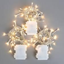 3 pack battery string lights 30 warm white leds 11 ft