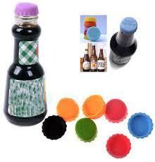 Kitchen Tools And Gadgets by Beer Savers Silicone Rubber Bottle Cap Multicolor Wine Beer Top