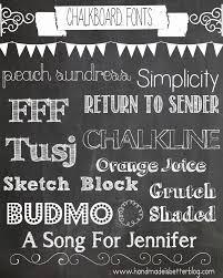 a few of my favorite things chalkboard fonts handmade is better