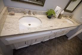 White Bathroom Vanity With Granite Top by Add Luxury To Your Kitchen With River White Granite Countertop