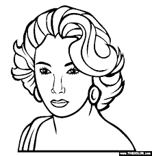 famous actress coloring pages 1
