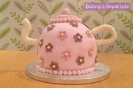 flutter and sparkle baking a teapot birthday cake