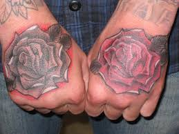 back of hand tattoos blue ink sunflower tattoos on back of body all tattoos for men