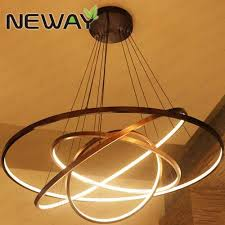 Led Pendant Light Fixtures 2 3 4 Rings Modern Contemporary Suspension Circle Led Pendant