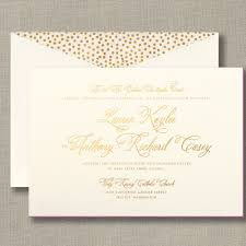 foil stamped wedding invitation with painted edge wedding