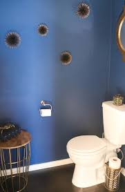 Dark Blue Powder Room A Kailo Chic Life Home Tour Tuesday The Powder Room