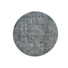 Grey Round Rug 9 Ft