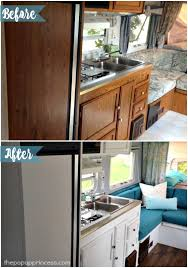 Caravan Kitchen Cabinets Before And After The Renovation Sprite Musketeer 82 My Vintage