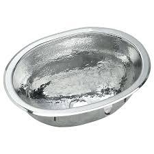 shop elkay asana hammered mirror stainless steel oval bathroom