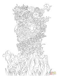 spring by giuseppe arcimboldo coloring page free printable