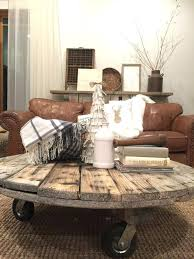 farmhouse style coffee table farmhouse style furniture love this coffee table made from a cable