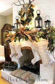 fireplace adorable christmas decor fireplace mantel for living